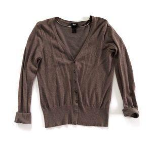 H&M Tan Button Up Cardigan
